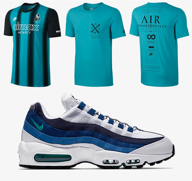 "be7ff5df Nike Air Max 95 T-Shirts to Match the Nike Air Max 95 ""Slate"""
