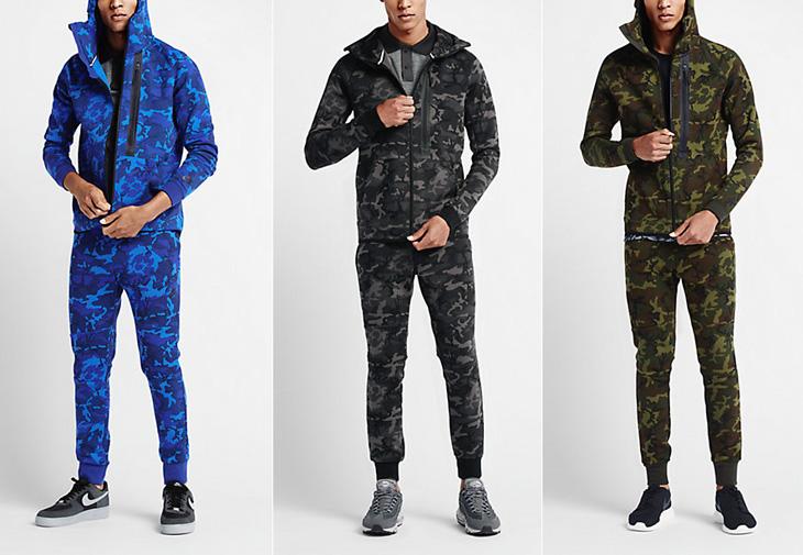 051233c1d2588 Nike Tech Fleece Camo Hoodie   SportFits.com