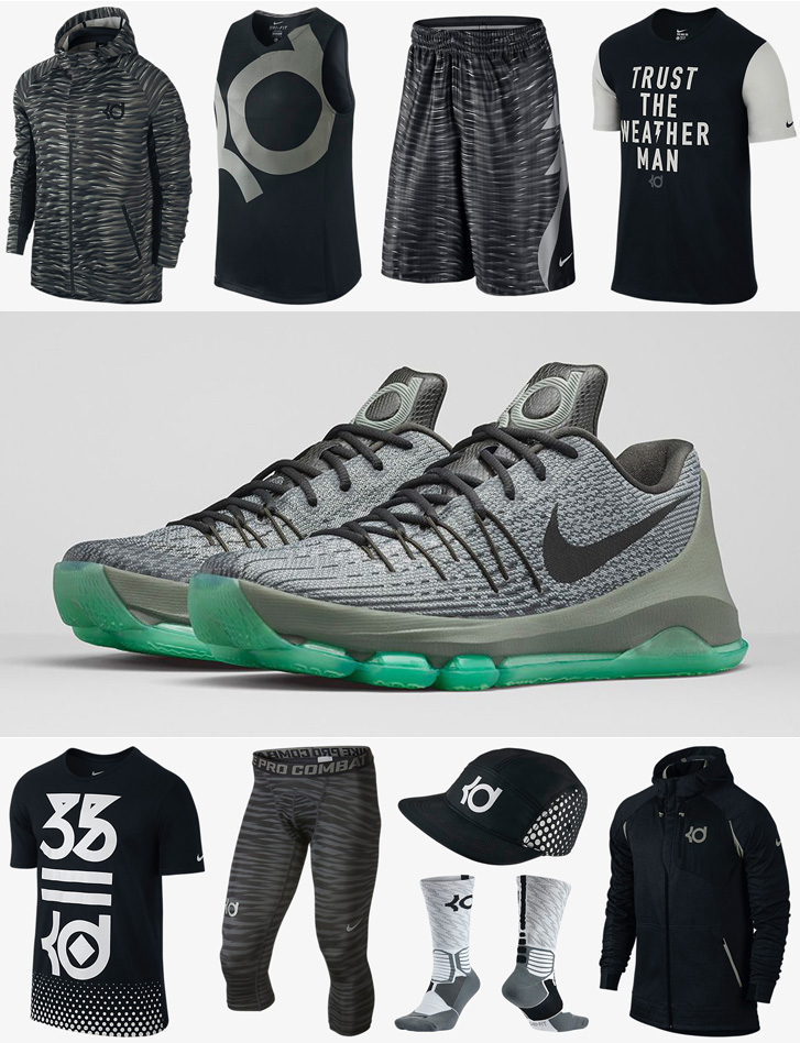 outlet store 05375 aba36 Nike KD 8 Hunts Hill Night Shirts Socks Shorts and Hats ...