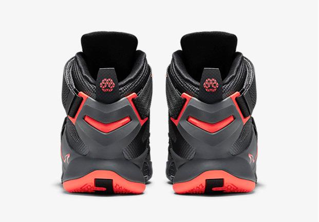 b87928d83af Nike LeBron Soldier 9 Premium Dark Grey Hot Lava