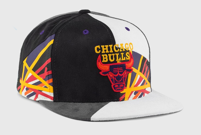 5cd7a65ee7c Air Jordan 8 Three Peat Bulls Hat by Mitchell and Ness