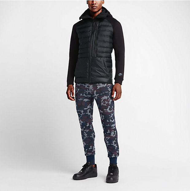 5e32e5078a6f Nike Tech Fleece Camo Pants in Obsidian