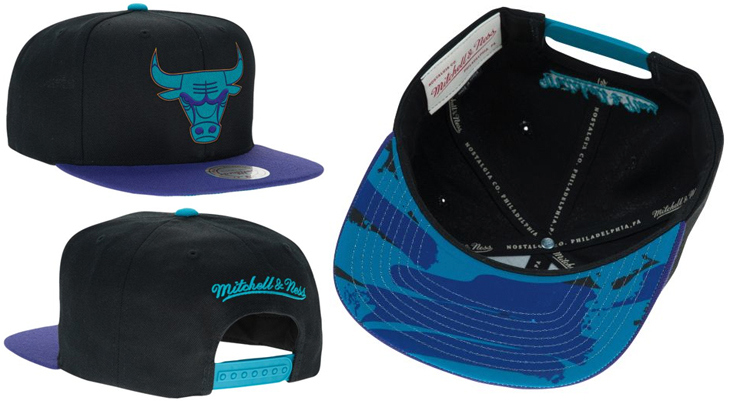 Air Jordan 8 Aqua Mitchell and Ness Hats  b5fee9aa55f