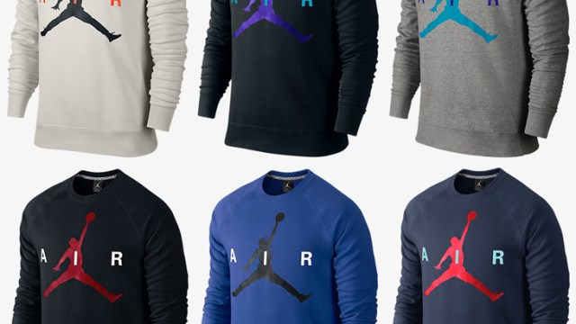 feea11e74a4944 Jordan Jumpman Crew Sweatshirts – New Holiday 2015 Colors