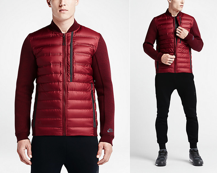 7d10c2f30565 nike-tech-fleece-aeroloft-bomber-jacket-red