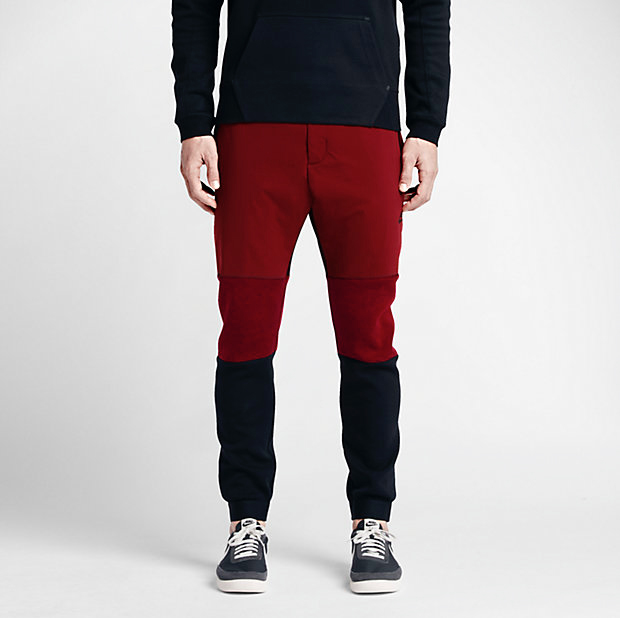 93241558592d Nike Tech Fleece Pants 2 Team Red Black