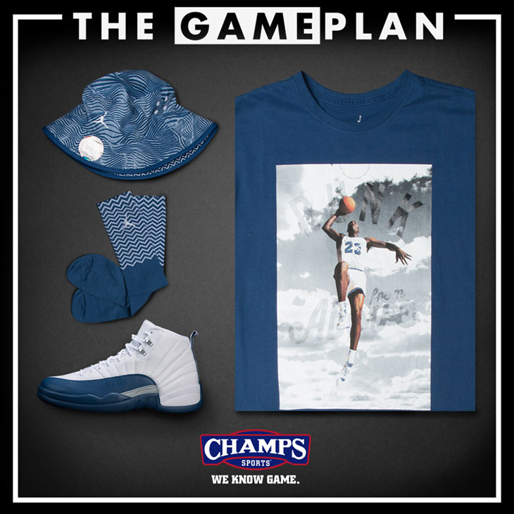 de52ee203c3 Jordan 12 French Blue Clothing and Shoes at Champs