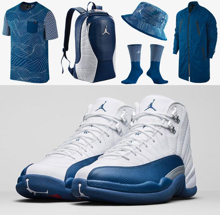 Air Jordan 12 French Blue Clothing