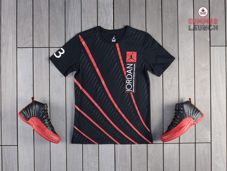 "ebeb9e5d25a0 Air Jordan 12 ""Flu Game"" Lines T-Shirt"