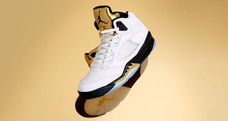 online store d31fa f4498 air-jordan-5-white-gold