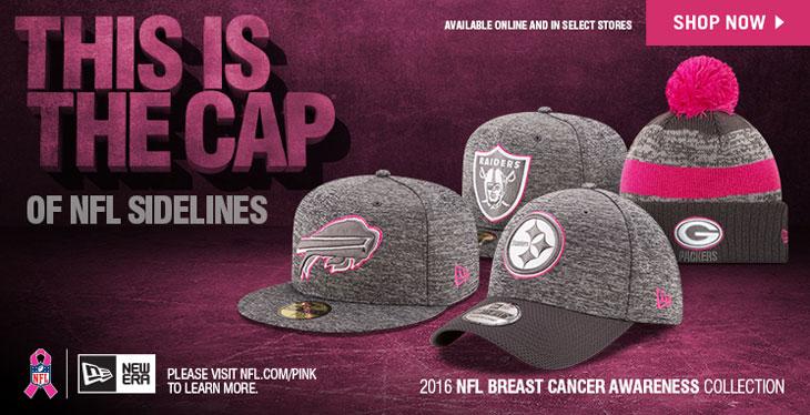 0b081a69be63e New Era 2016 NFL Breast Cancer Awareness Hats
