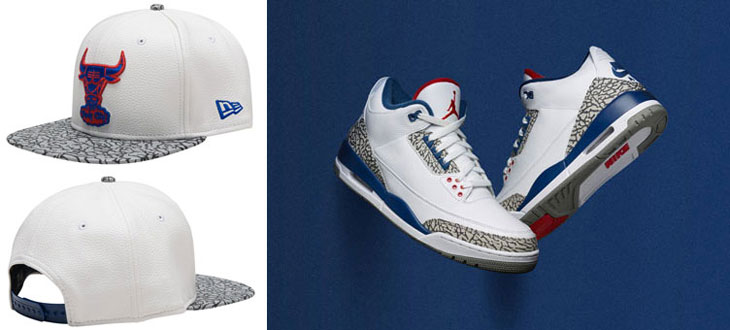 e04106cf Air Jordan 3 True Blue Bulls Snapback Hat | SportFits.com
