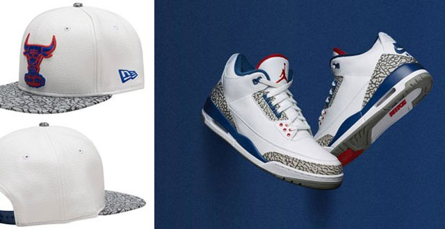 d109b68b41dd Air Jordan 3 True Blue Bulls Snapback Hat
