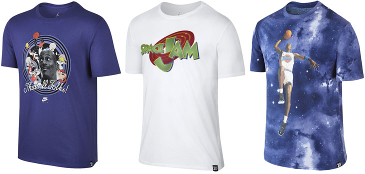 "cb4d1d6c1a8f9c Air Jordan 11 ""Space Jam"" T-Shirts"