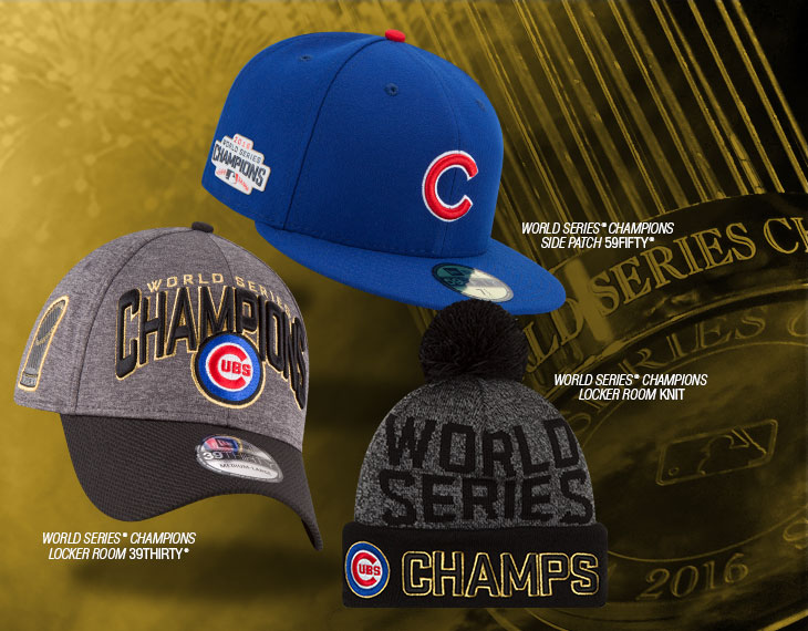 New Era Chicago Cubs 2016 World Series Champ Hats  b2ff518483d