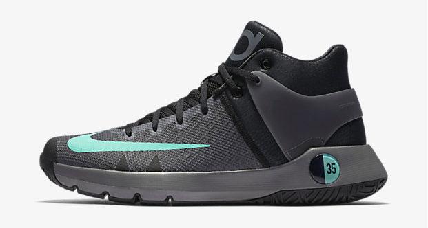 "9668b18d17e Nike KD Trey 5 IV ""Black Grey Green Glow"""