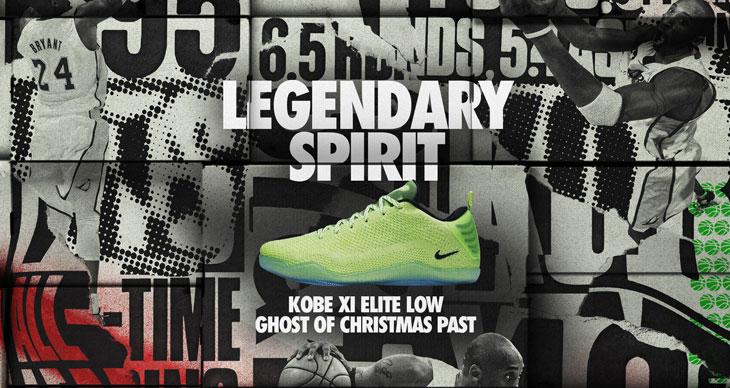 "super popular a8501 ada88 Nike Kobe 11 Elite ""Ghost of Christmas Past"""