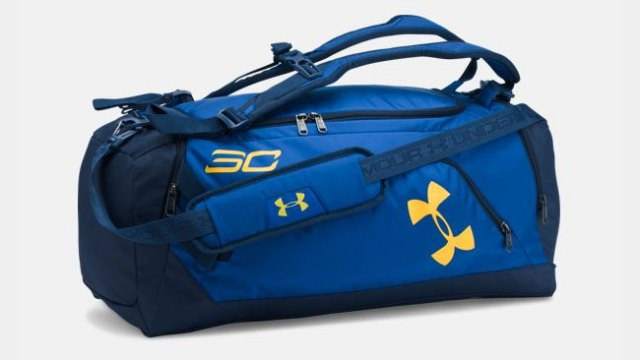 Under Armour Stephen Curry Storm Duffle Bag Backpack Blue