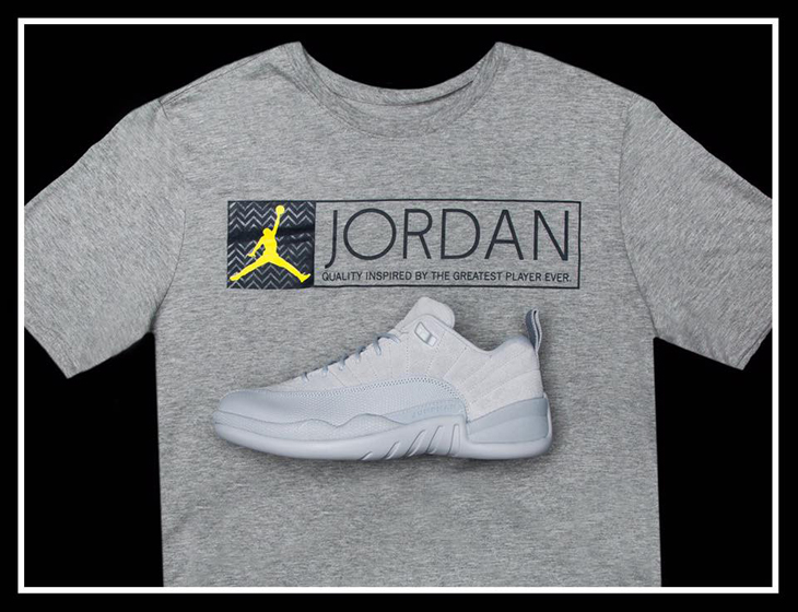 df19a34e5bd1 Air Jordan 12 Low Wolf Grey Shirt
