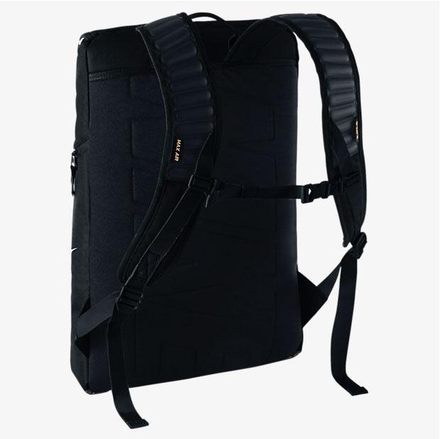 f10de6e363 Nike LeBron Ambassador Max Air Backpack Black White Gold