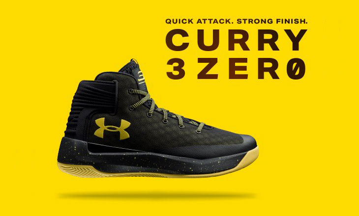 Under Armour Curry 3ZERO Black and