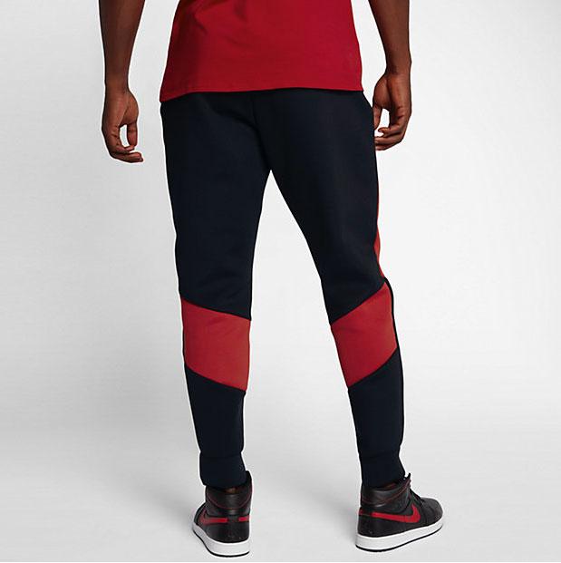 ecb618f8b5e Jordan Sportswear Flight Tech Pants Black Gym Red | SportFits.com