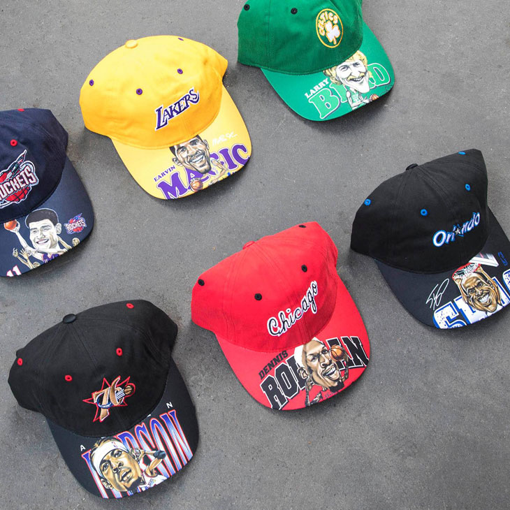 new style e4c8f 0cd3a mitchell-ness-nba-caricature-dad-hats