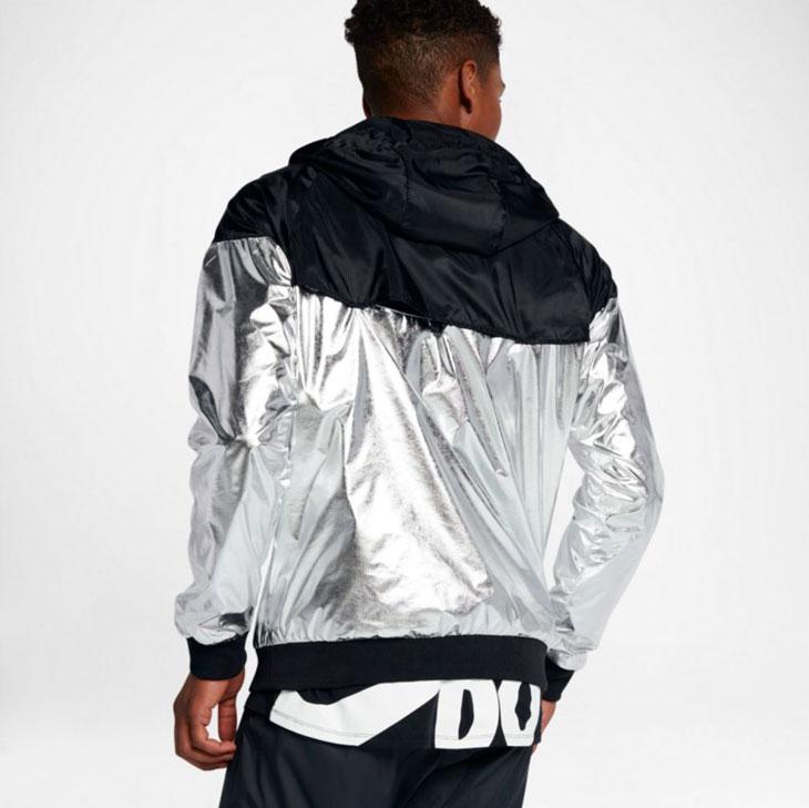 Nike Metallic Silver Windrunner Jacket