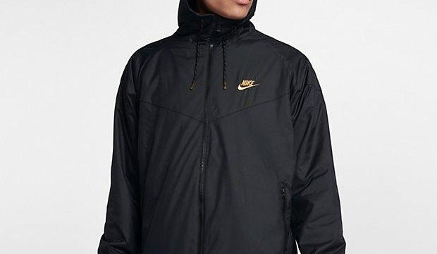 b42827aa060c Nike Sportswear Windrunner Winterized Jacket Black Gold