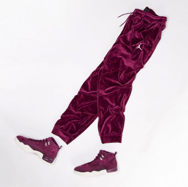 Jordan 12 Bordeaux Velour Pants