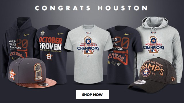 new concept a8323 9890d Houston Astros MLB World Series Champions Clothing ...
