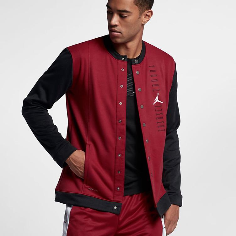 e4de2f57863360 Jordan 11 Space Jam Bulls Starter Jacket