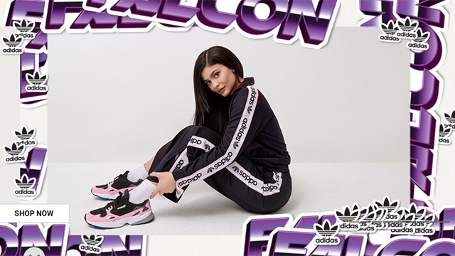 Kylie Jenner in adidas Originals Falcons Shoe  22b8bf349