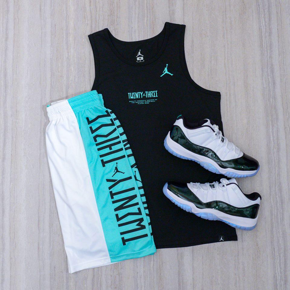 5aba7006787b Jordan 11 Emerald 2018 Shirts