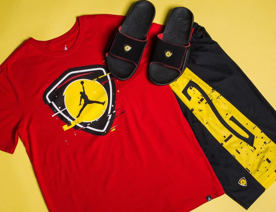 d464ed96770 Air Jordan 14 Last Shot Clothing to Match | SportFits.com