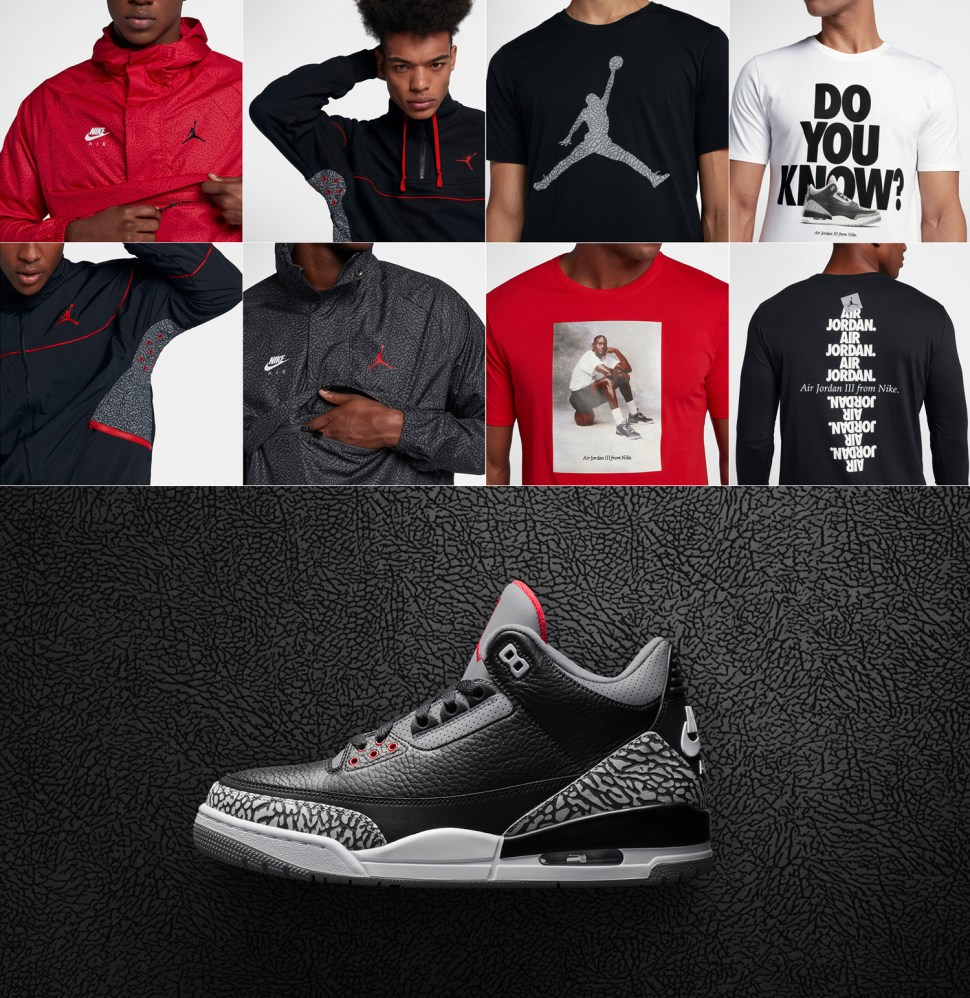 613f884280ea5d Air Jordan 3 Black Cement Clothing and Gear Roundup