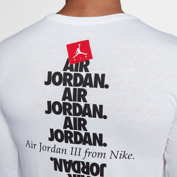 23b5824a31b608 Air Jordan 3 Black Cement Long Sleeve Shirt