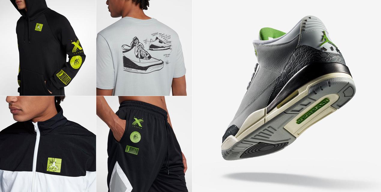 Jordan 3 Chlorophyll Shoes Clothing and Gear |