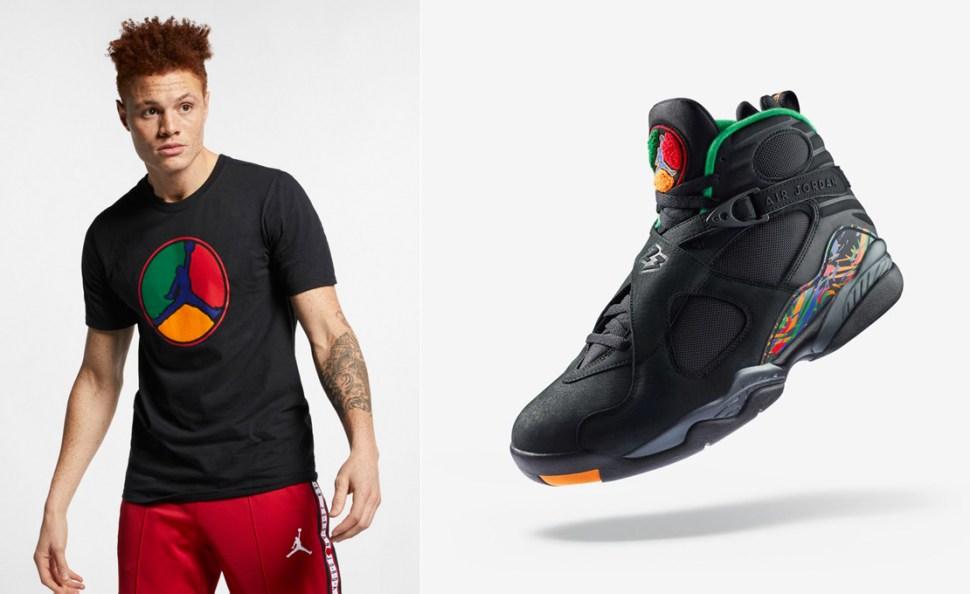 d36ba5044b9 Air Jordan 8 Air Raid Sneaker Shirt | SportFits.com