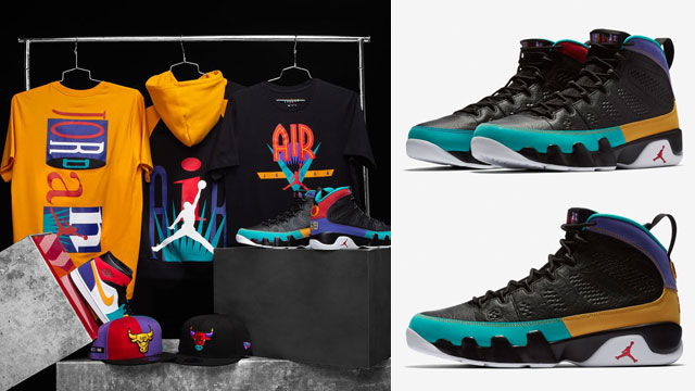 ba8ebbad331 Jordan 9 Dream It Do It Clothing Outfits | SportFits.com