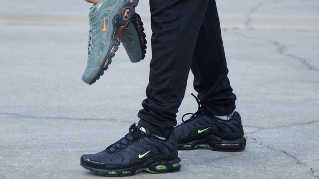 Nike Air Max Plus Black and Green Volt