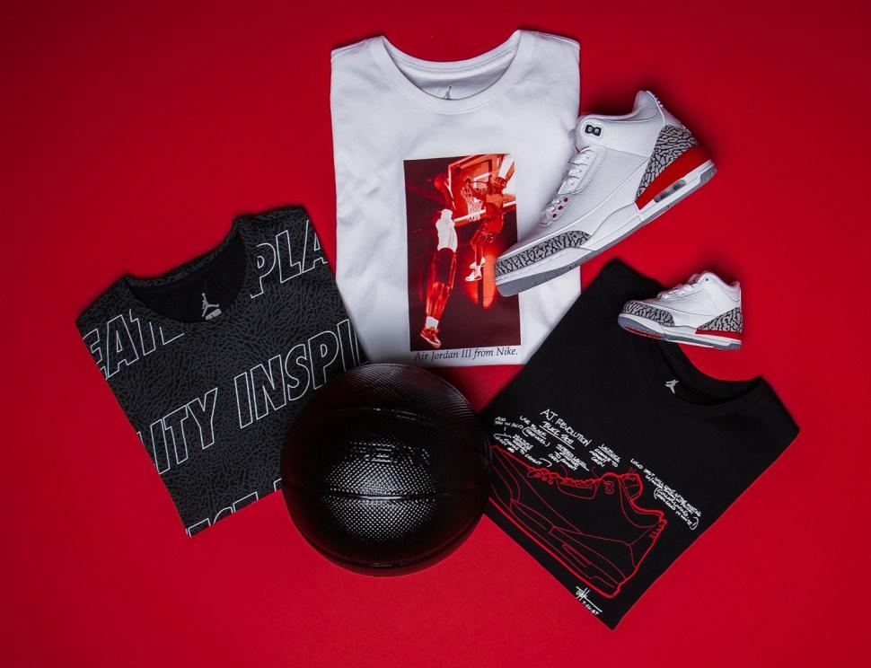 8038b3a77607 Jordan 3 Katrina Hall of Fame Shirt to Match