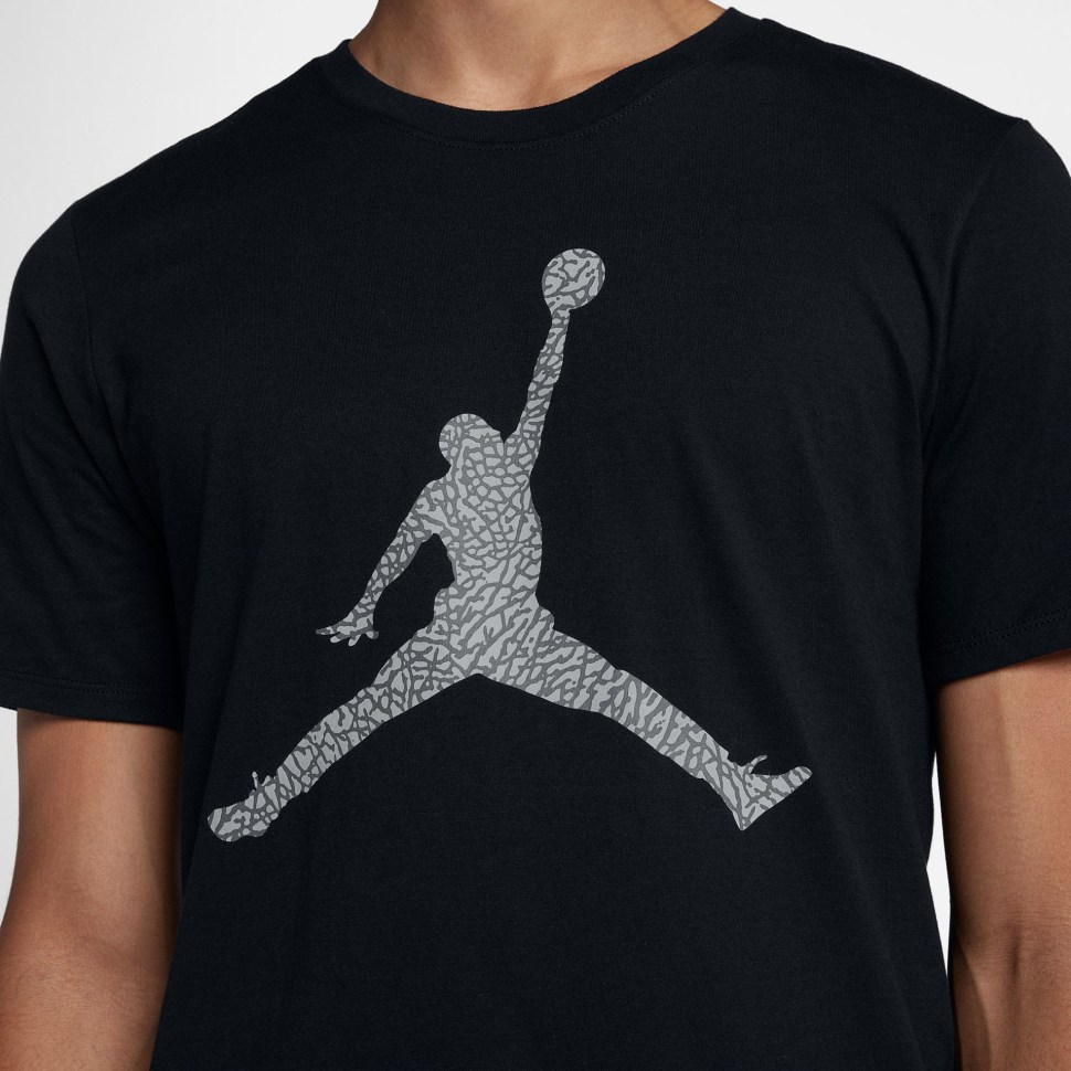 e00564dbc96 Jordan 3 White Black Cement Jumpman Shirt | SportFits.com