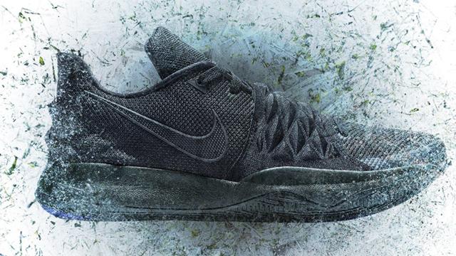 finest selection cbd3c cd214 Nike Kyrie Low Triple Black Available Now | SportFits.com