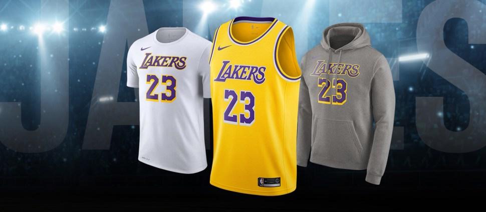 100% authentic da883 6de4c LeBron LA Lakers Nike Shirts and Jersey | SportFits.com