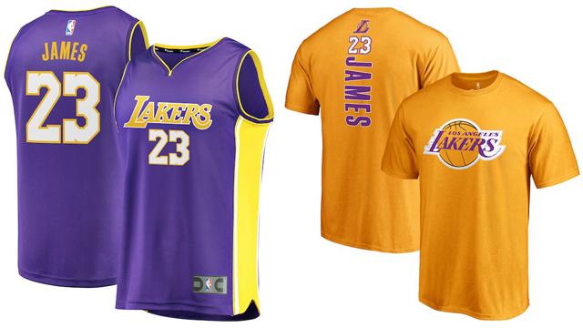 timeless design 9bf3a 6b18f LeBron James LA Lakers Jersey and Shirt | SportFits.com