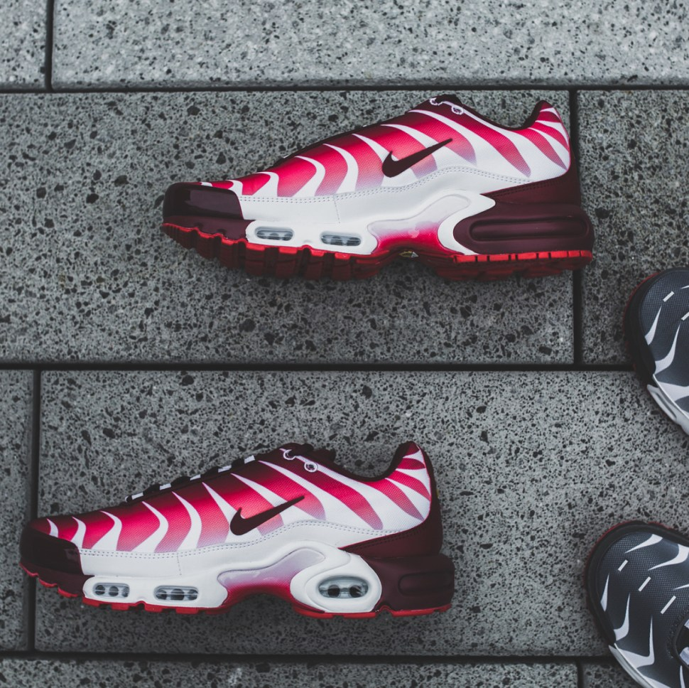 45772a45cb Nike Air Max Plus Before and After the Bite Sneakers | SportFits.com
