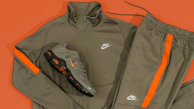 Nike Air Max Plus Olive Orange and