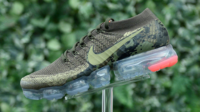 "42e447e66cb81 Hunter hues and military cues mix it up on this olive green Nike Air  VaporMax Flyknit ""Digi Camo"" release. Bringing a combat-themed color scheme  to the ..."