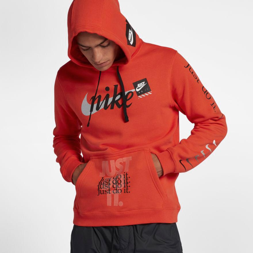 Nike JDI Just Do It Orange Off White Hoodie | SportFits.com